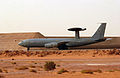 An AWACS aircraft prepares to depart on a surveillance mission. SW Asia. 22-03-2003 MOD 45142844.jpg