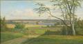 Anders Andersen-Lundby - Fjordparti med bonde, der pløjer sin mark - 1876.png
