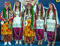 Ankara - BWF World Senior Badminton Championships - colorfully dressed Turkish medal carriers (11078202464).jpg
