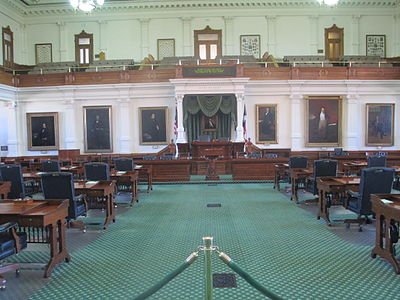 Inside view of the Texas Senate Another view of the Texas State Senate IMG 6320.JPG