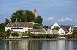 Ansicht vom Dampfschiff Stadt Rapperswil der Zürichsee-Schifffahrtsgesellschaft auf das Endingerhorn in Rapperswil, mit Kapuzinerkloster, Lindenhof, Schloss, Bühlerallee mit Endingerturm und Einsiedlerhaus 2013-09-13 17-11-17.JPG