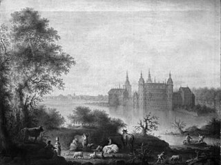 Prospekt af Frederiksborg Slot
