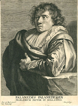 Palamedes Palamedesz - Palamedes Palamedesz by Paulus Pontius after Anthony van Dyck