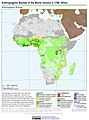 Anthropogenic Biomes of the World, Version 2, 1700 Africa (13603045793).jpg