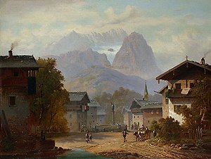 Garmisch-Partenkirchen - Garmisch-Partenkirchen, painting by Anton Doll