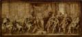 Anton van Dyck, Modello De Brusselse Schepenenkamer of Vierschaar in het bijzijn van Vrouwe Iustitia, 1634-1635.png