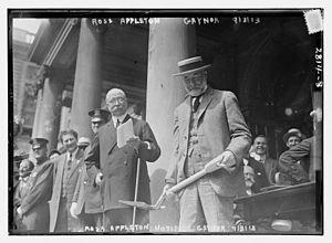 Ruel Ross Appleton - Ruel Ross Appleton and William Jay Gaynor in 1913