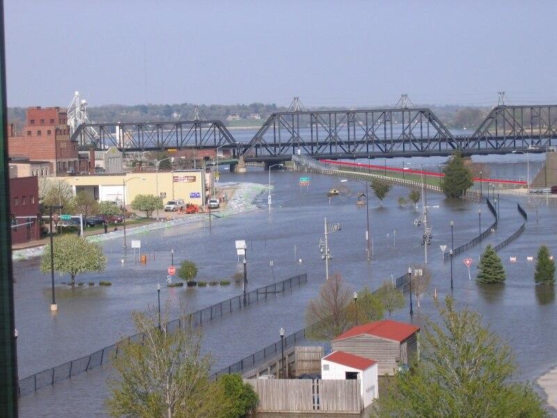 April 30, 2008 flood in Davenport, Iowa