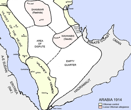 The Arabian Peninsula in 1914 Arabia 1914.png