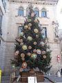 Arbre de nadal a la plaça de Sant Jaume - desembre 2014.JPG