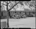 Arcadia, California. Evacuees of Japanese ancestry arriving at the Santa Anita Assembly center to a . . . - NARA - 537393.tif