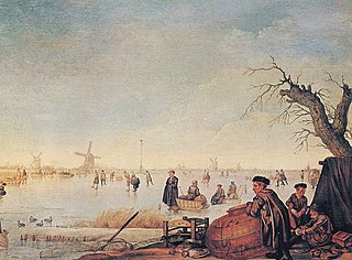 Ice Landscape with Duck Hunters
