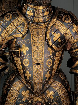 Greenwich armour - Armour of George Clifford, 3rd Earl of Cumberland (1558–1605), 1586