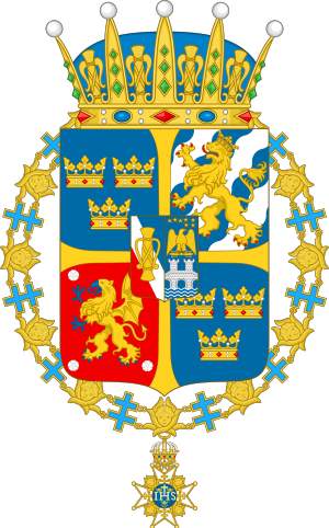 Prince Carl Bernadotte - Image: Arms of H.R.H. Carl, Duke of Östergötland