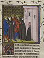 Arrest of the Templars - Chroniques de France ou de St. Denis (end 14th C), f.42v - BL Royal MS 20 C VII.jpg