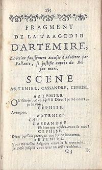 Artémire (tragedy) cover
