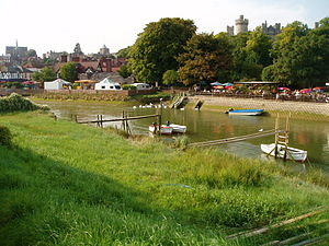 Arundel - The River Arun at Arundel.