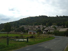 A general view of the village of Arzenc-de-Randon
