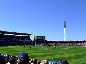 An AFL match at AAMI stadium in Adelaide