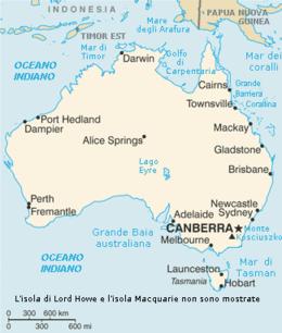 Australia - Mappa