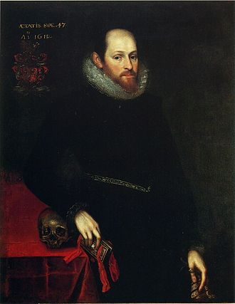 Portraits of Shakespeare - The Ashbourne portrait was reproduced in the 19th century as Shakespeare, but has been since identified as  Hugh Hamersley