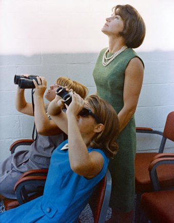 Trudy and their teenage daughters, Cam and Jan, watch the launch of Gemini 5 Astro TrudyCooper daughters.jpg