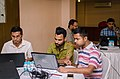 Aswiki2019- Some participants during the proofreading session.jpg
