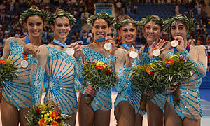 Italy at the 2004 Summer Olympics - Italy captures the silver medal in women's rhythmic gymnastics team all-around