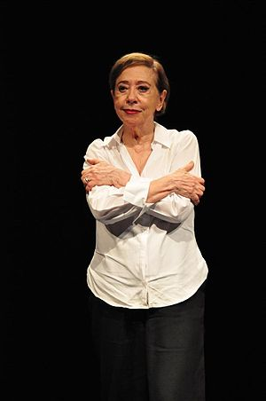 Fernanda Montenegro - Fernanda Montenegro during presentation of the play Viver sem tempos mortos in 2012.