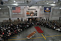 Attendees gather for the U.S. Navy chief petty officer pinning ceremony inside the USS Midway Ceremonial Drill Hall at Recruit Training Command at Naval Station Great Lakes, Ill., Sept 120914-N-IK959-764.jpg