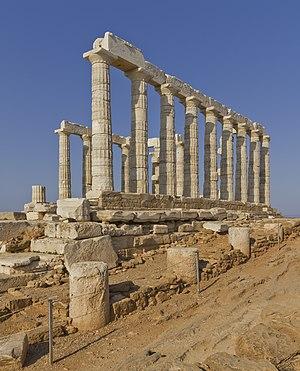 Temple of Poseidon on Cape Sounion, Attica, Greece