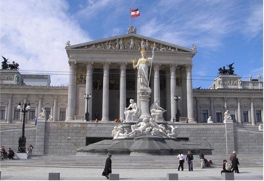 Austrian Parliament Building. Vienna, Austria