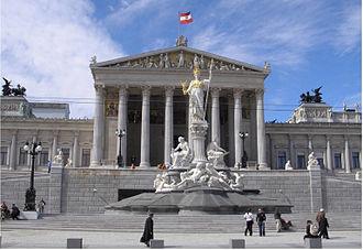 Austrian Parliament - Image: Austria Parlament Front Ausschnitt