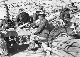 Battle of Bardia - 25-pounder gun crew of the 2/1st Field Artillery Regiment at Bardia