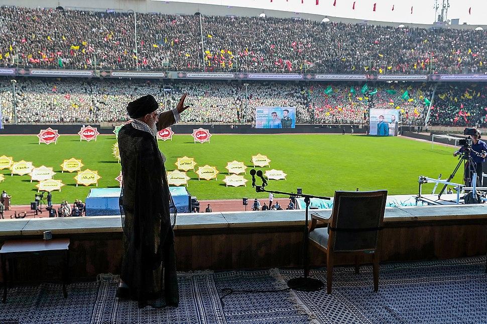 Ayatollah Ali Khamenei at the Great Conference of Basij members at Azadi stadium October 2018 033