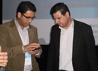 Joint List - Ayman Odeh (on the right) and Shady Haliya