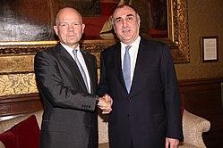 d2b209954c98 Министр иностранных дел Великобритании Уильям Хейг и Азербайджана Эльмар  Мамедъяров