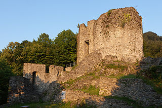 ruined castle in the municipality of Wilderswil in the Swiss canton of Bern