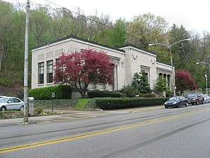B.F. Jones Memorial Library - Front of the library