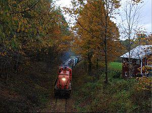 Batten Kill Railroad - Southbound at Old State Rd near Eagle Bridge, NY