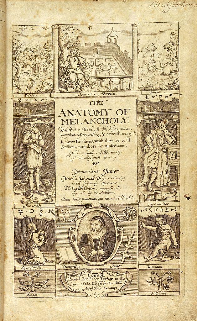 Old Fashioned Anatomy Of Melancholy Sparknotes Festooning - Human ...