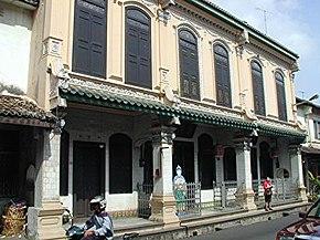 Rumah baba-nyonya di Melaka. (Gambar oleh: Andrew Lih)