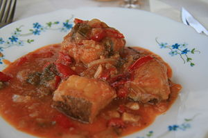 Uruguayan cuisine - Bacalao typically served on Semana Santa (Easter).