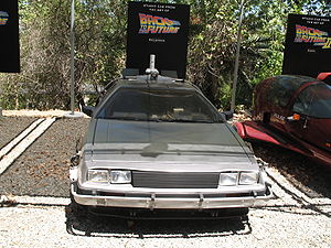 Photo of the Back to the Future studio car. Th...