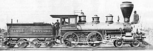 4-4-0 - Finnish Class A4 locomotive of 1872
