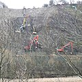 Ballet for excavators, Reins Wood, Elland - geograph.org.uk - 724101.jpg