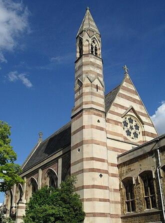 Balliol College, Oxford - William Butterfield's chapel, seen from the Fellows' Garden