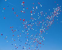 A balloon race in Fetcham shortly after the ba...
