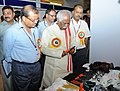 Bandaru Dattatreya going round the exhibition, at the presentation of the Vishwakarma Rashtriya Puraskar and National Safety Awards (performance Year 2013), in New Delhi. The Secretary, Ministry of Labour and Employment (2).jpg