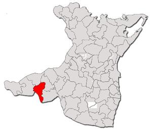 Băneasa, Constanța - Location of Băneasa in the Constanţa County